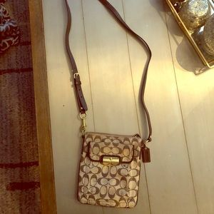 Crossbody Authentic Coach Bag Khaki Brown